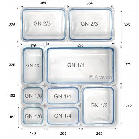 HERMÉTICO GN 1 2 H.100 MM 6.5 LITROS - ARAVEN