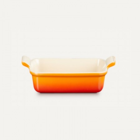Bandeja rectangular gres 31x26cm volcánica - LE CREUSET